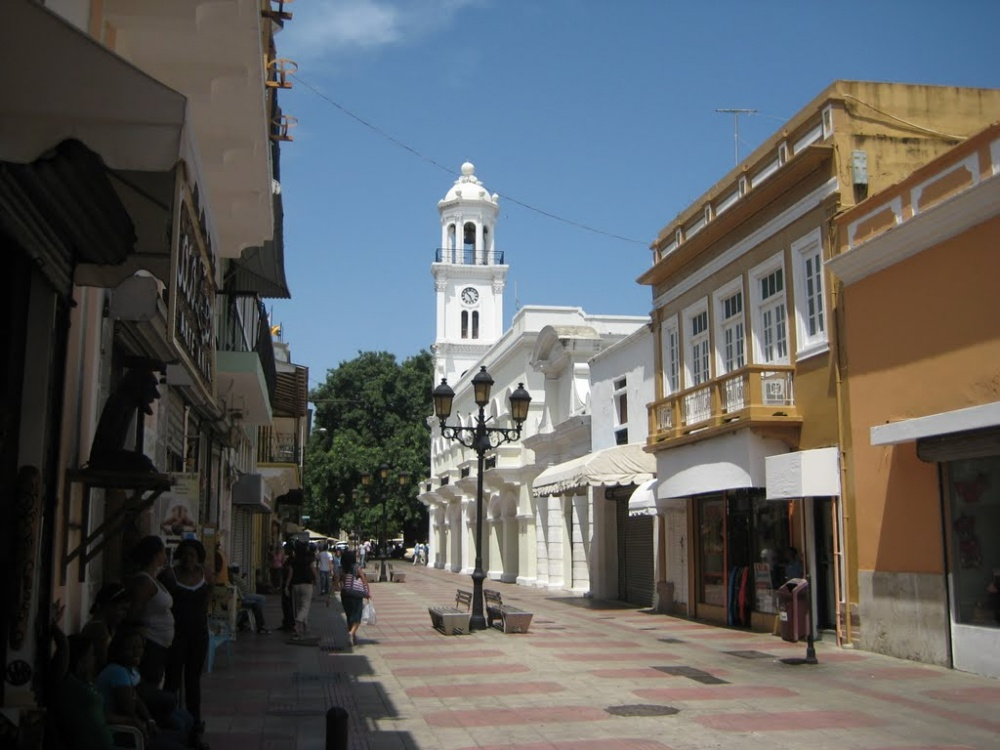 Beautiful street in the Zona Colonial in Santo Domingo