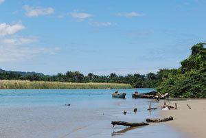 Sabaneta where the river Yasica flows into the ocean