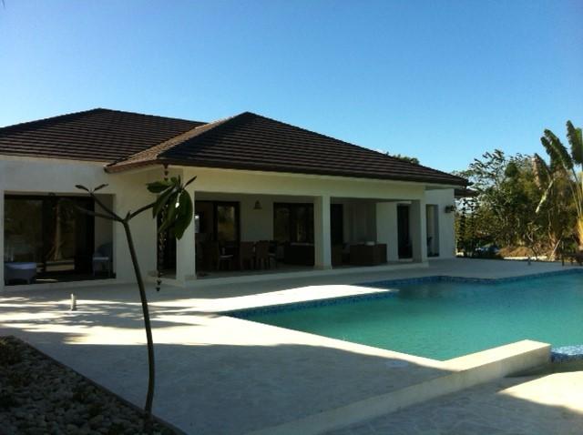 Backyard of the villa