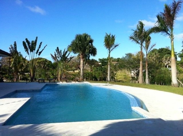 New home pool real estate Cabarete Dominican Republic
