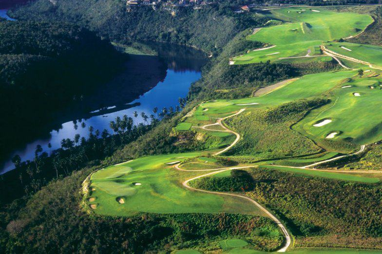 Dye Fore Golf Course with Chavon River in the south of the Dominican Republic