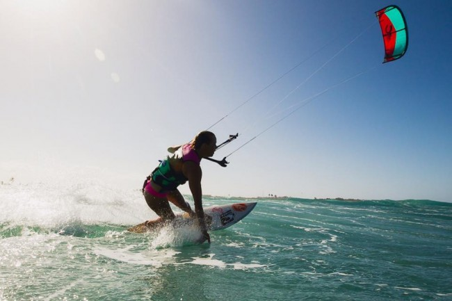 Kiteboarding with Audrey in Cabarete